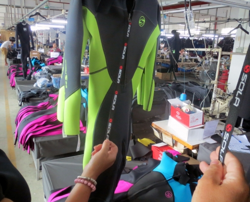 Quality checking TWF Wetsuits